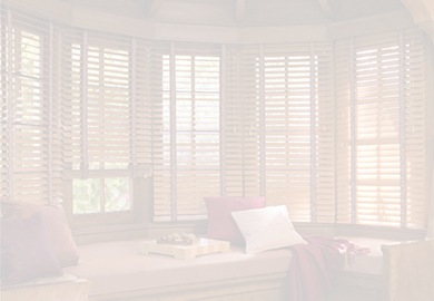wood blinds screened